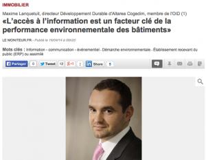 L'accès à l'information est un facteur-clé de la performance environnementale des bâtiments