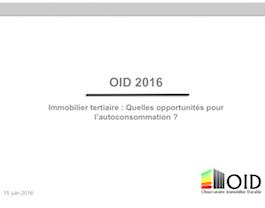 Juin 2016 : Commission Immobilier tertiaire, quelles opportunités pour l'autoconsommation ?