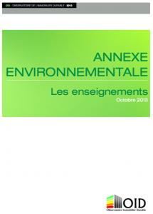 Publication : L'annexe environnementale, les enseignements