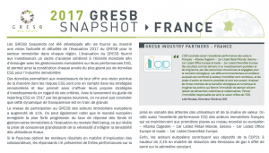 Publication : Snapshot France 2017 du GRESB
