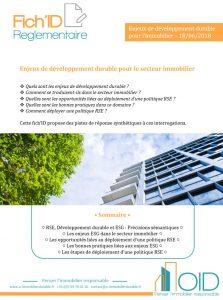 Fich'ID Enjeux de développement durable pour le secteur immobilier