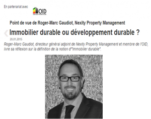 Immobilier durable ou développement durable ?