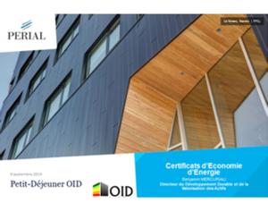 Septembre  2014 : Les certificats d'économie d'énergie