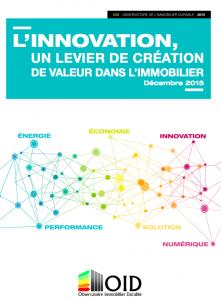 Publication : l'Innovation, un levier de création de valeur dans l'immobilier