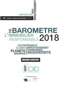Publication : Résumé Exécutif du Baromètre 2018 de l'Immobilier Responsable