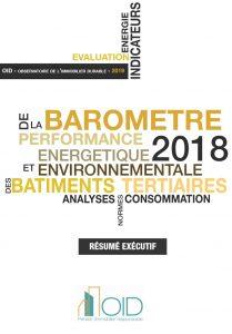 Publication : Résumé exécutif du Baromètre 2018 de la performance énergétique et environnementale des bâtiments tertiaires